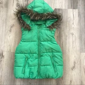 💚JUSTICE size youth 10-12 puffer vest